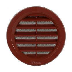 HACO 0412 Větrací mřížka kruhová se síťovinou 75 hnědá