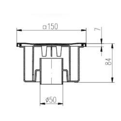 MCH CHUDĚJ Podlahová vpusť DN50/84P plastová mřížka - 2