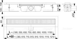 ALCAPLAST APZ1 650 podlahový žlab - 2
