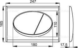 ALCAPLAST M70 ovládací tlačítko - 2