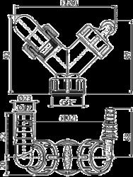 ALCAPLAST P149Z dvojité kolínko s klapkami - 2