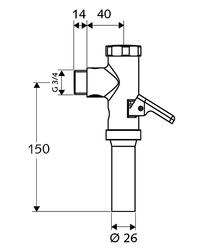 """SCHELL 022380699 tlakový splachovač 3/4"""" - 2"""