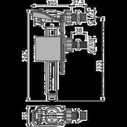 ALCAPLAST A150UNI Napouštěcí ventil boční univerzální - 2